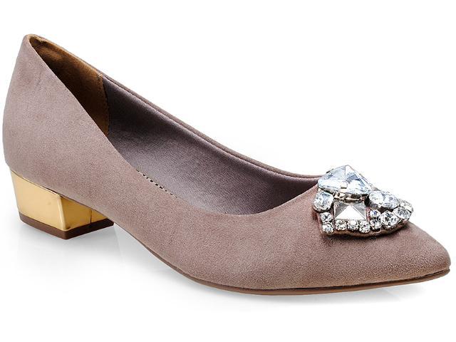 Sapato Feminino Via Marte 14-3801 Rato/ouro