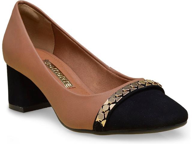 Sapato Feminino Via Marte 16-5603 Camel/preto