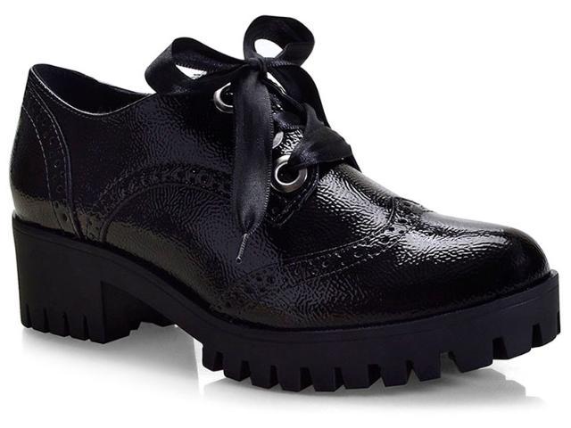 Sapato Feminino Via Marte 18-608/1 Preto Glamour