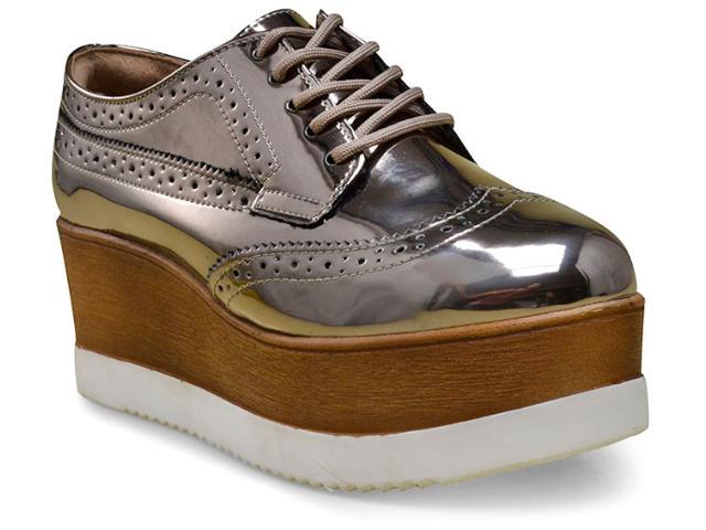 Sapato Feminino Via Marte 17-4851 Prata Velha