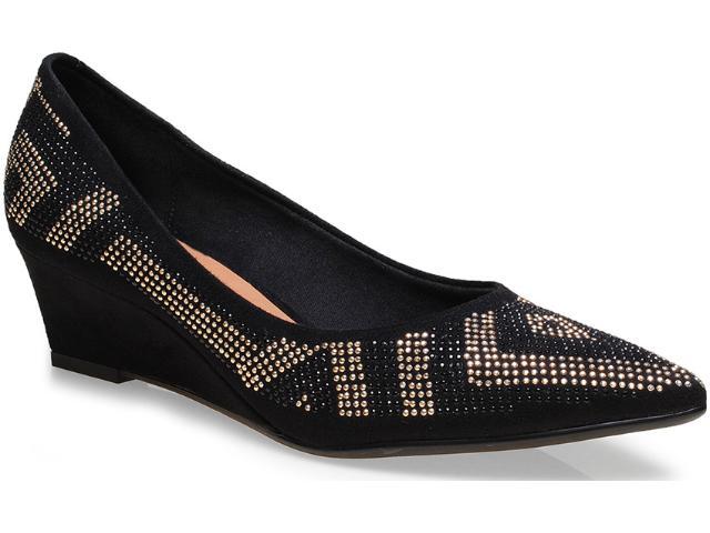 Sapato Feminino Vizzano 1194102 Preto/dourado