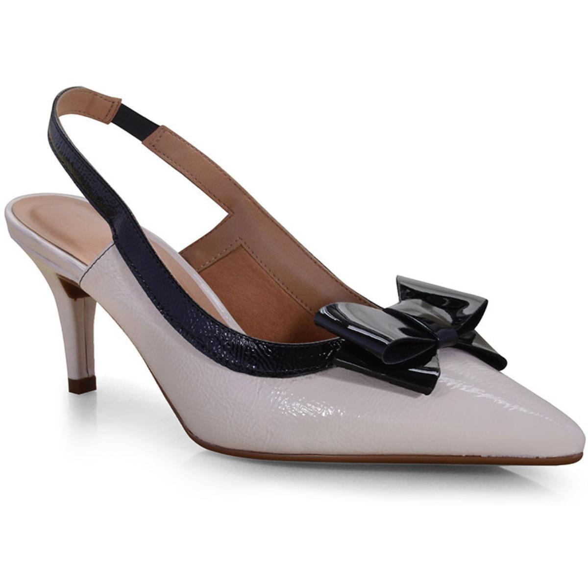 Sapato Feminino Vizzano 1185176 Creme/preto