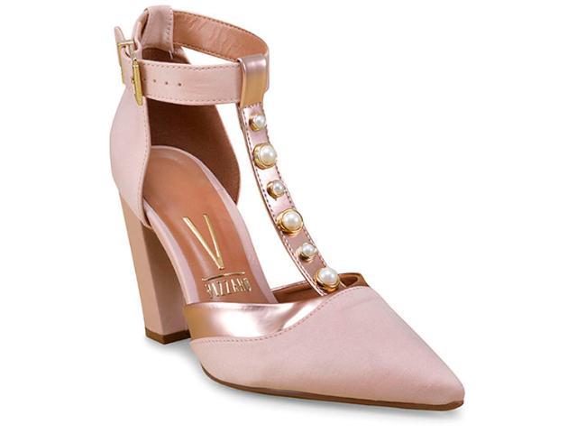 Sapato Feminino Vizzano 1264103 Nude/ouro Rosado