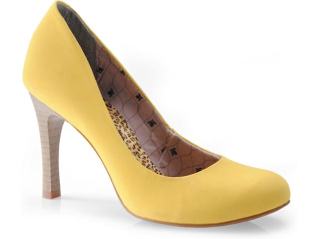 Sapato Feminino Cravo e Canela 89201/11502 Amarelo