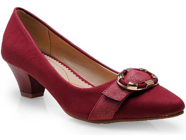 Sapato Feminino Mooncity 61504 Vermelho