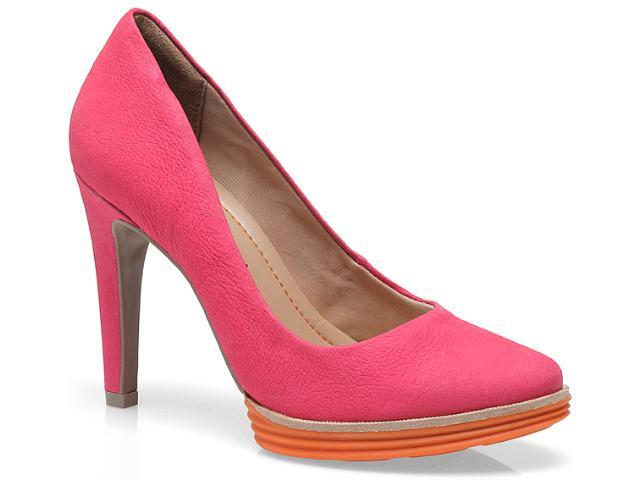 Sapato Feminino Ramarim 13-23201 Goiaba/tangerina