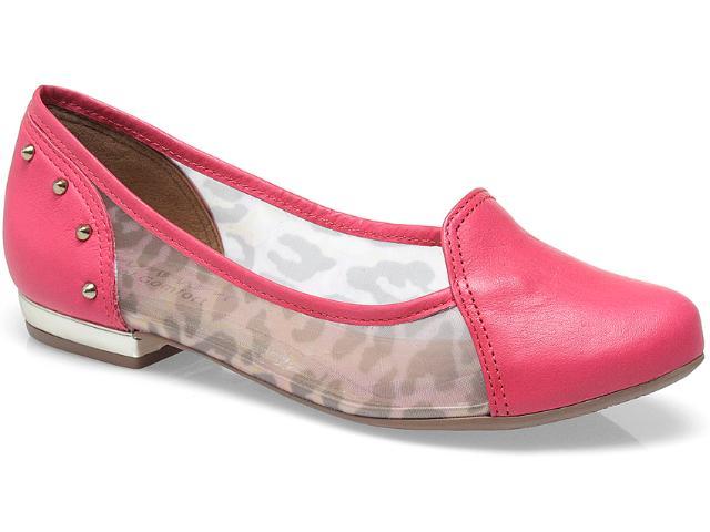 Sapato Feminino Ramarim 13-85202 Onca/goiaba/ouro