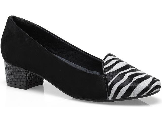 Sapato Feminino Ramarim 13-90205 Zebra/preto