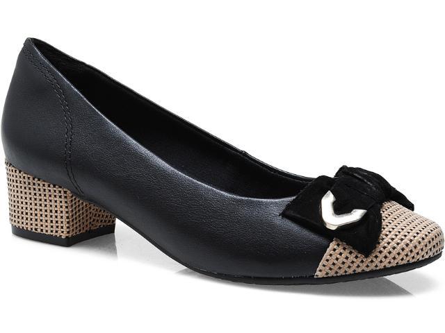 Sapato Feminino Ramarim 13-90204 Preto/ouro