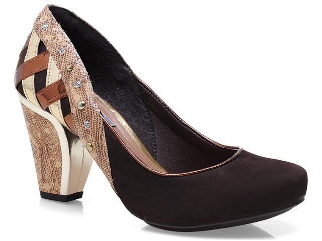 Sapato Feminino Tanara 4683 Café/bronze/ouro