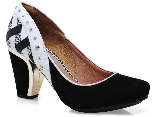 Sapato Feminino Tanara 4684 Preto/branco