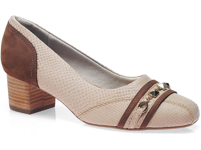 Sapato Feminino Usaflex 0220 Areia