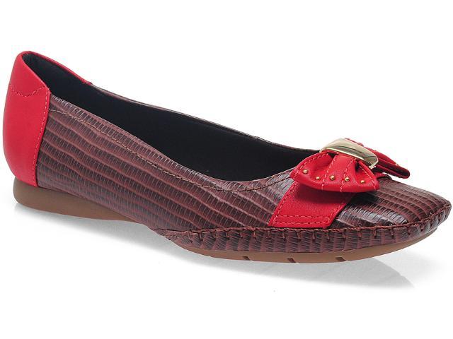 Sapato Feminino Usaflex 3213 Marrom/cereja