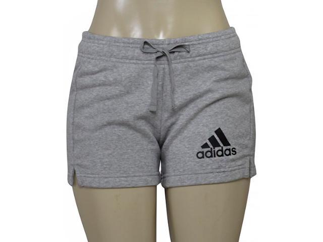 Short Feminino Adidas S97162 Ess Solid Sho Cinza