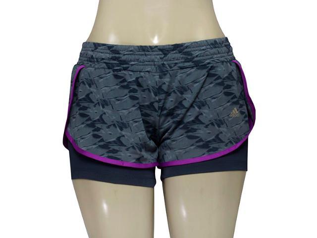 Short Feminino Adidas Ay9433 Grafica Wkt Cinza/grafite