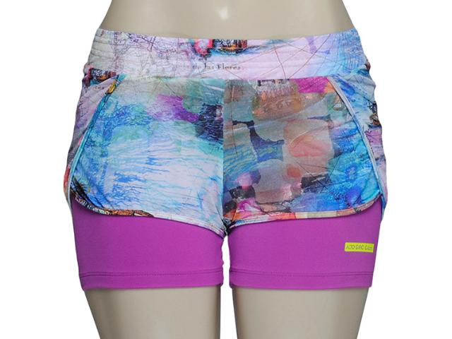 Short Feminino Alto Giro 48006 Estampado Color