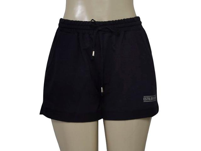 Short Feminino Estilo do Corpo 8276 Preto