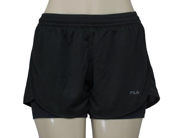 Short Feminino Fila X262051 Double Train Preto