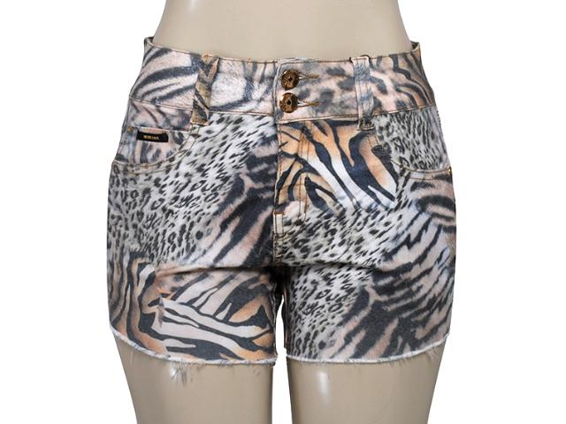Short Feminino Moikana 13856 Est Animal Print