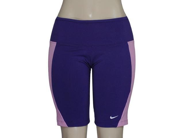 Short Feminino Nike 446155-547 Foldover Tight Roxo/rosa