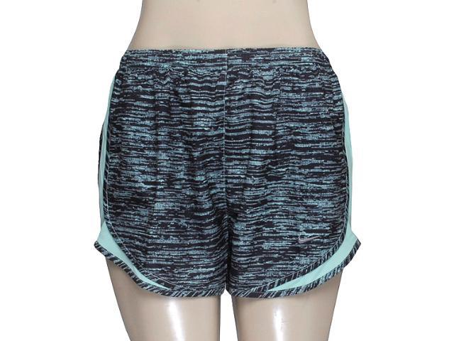 Feminino Nike 618263-308 Printed Tempo Short  Preto/verde