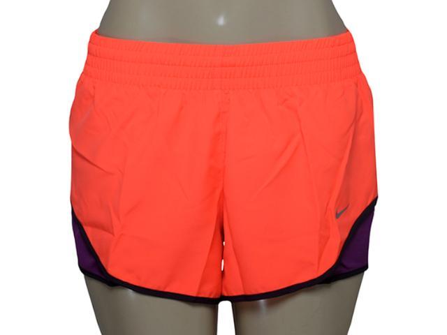 Short Feminino Nike 686024-877 Racer Woven Laranja/roxo