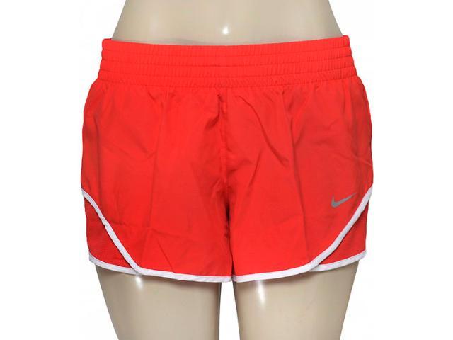 Short Feminino Nike 686024-696 Racer Woven  Vermelho