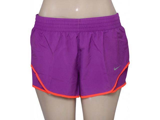 Short Feminino Nike 686024-556 Racer Woven  Roxo