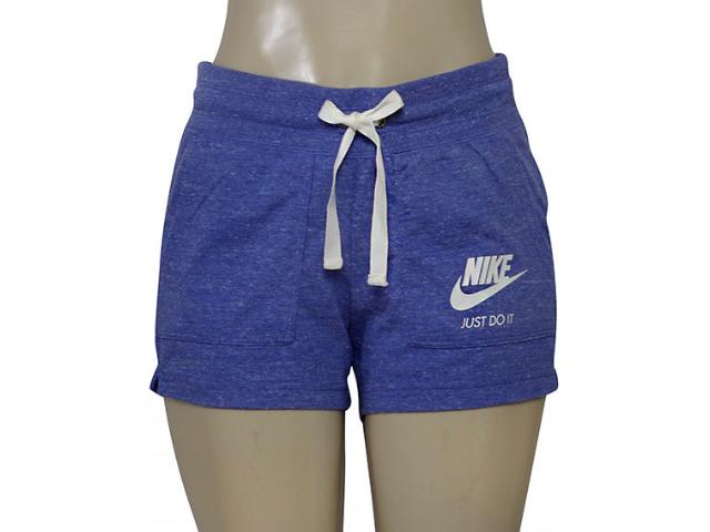 Short Feminino Nike 883733-516 Nsw Gym Vntg  Roxo