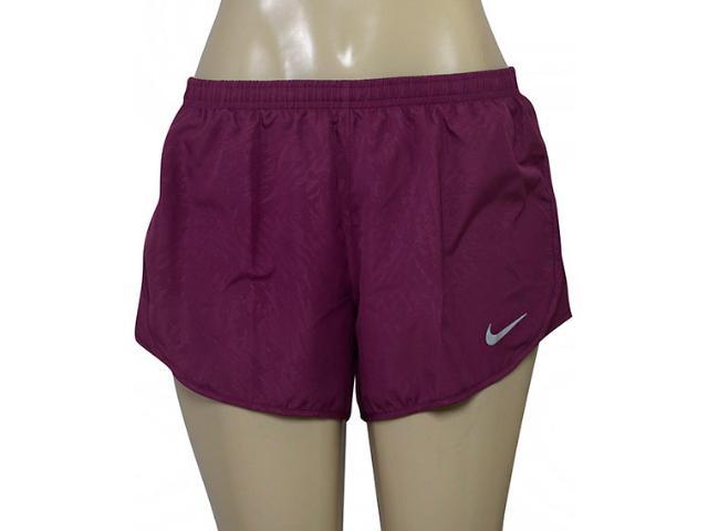 Short Feminino Nike 831281-659 nk Dry Mod Tempo Ameixa