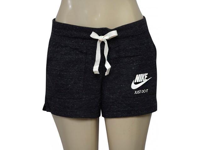 Short Feminino Nike 883733-010 w Nsw Gym Vntg  Preto