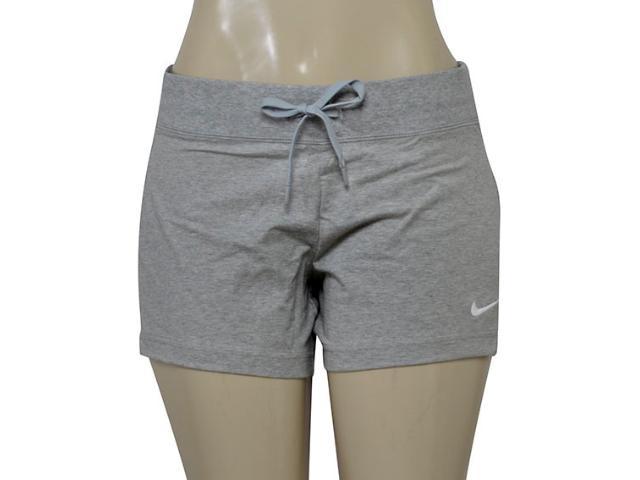 Short Feminino Nike 615055-066 Jersey Cinza Claro