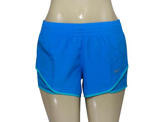 Short Feminino Nike 686024-435 Racer Woven  Azul