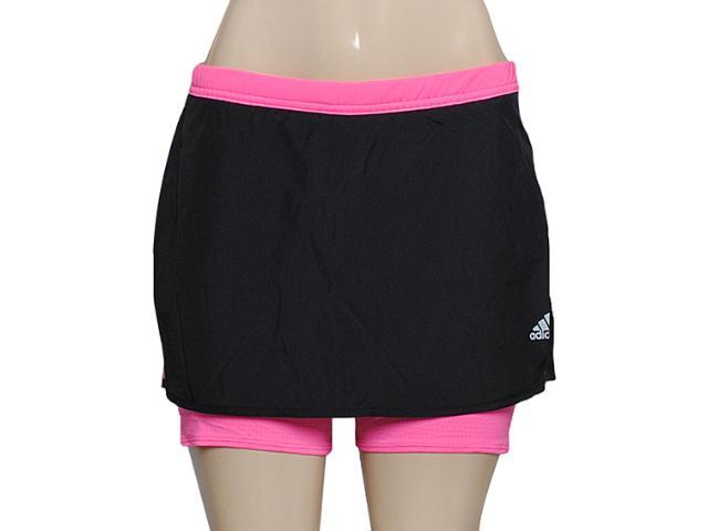 Short Saia Feminina Adidas M61858 Response w Preto/pink