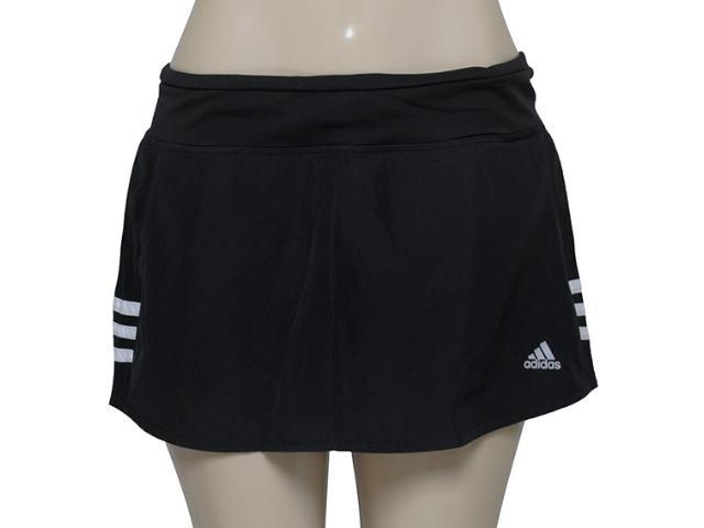 Short Saia Feminina Adidas Aa5655 Resp w Preto/branco