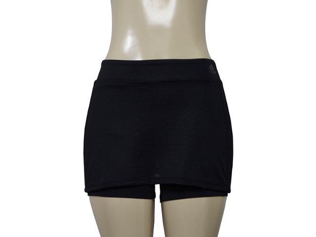 Short Saia Feminina Adidas Cd1901 Vwo Skort Preto