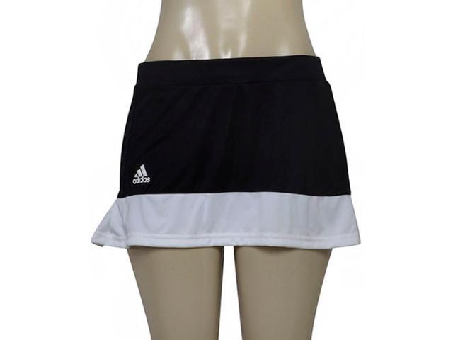 Short Saia Feminina Adidas Bj9560 Court Skirt Preto/branco
