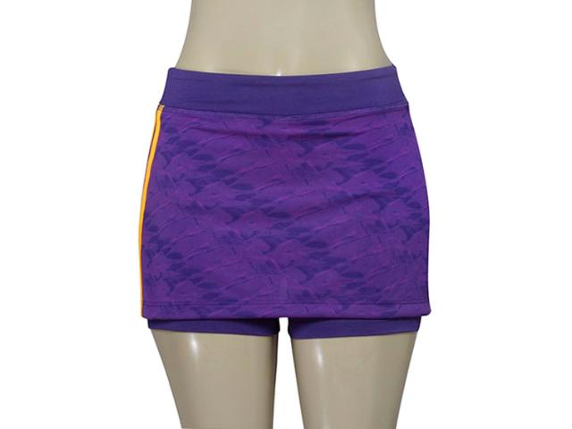Short Saia Feminina Adidas Ay9271 Wkt 3s w Roxo
