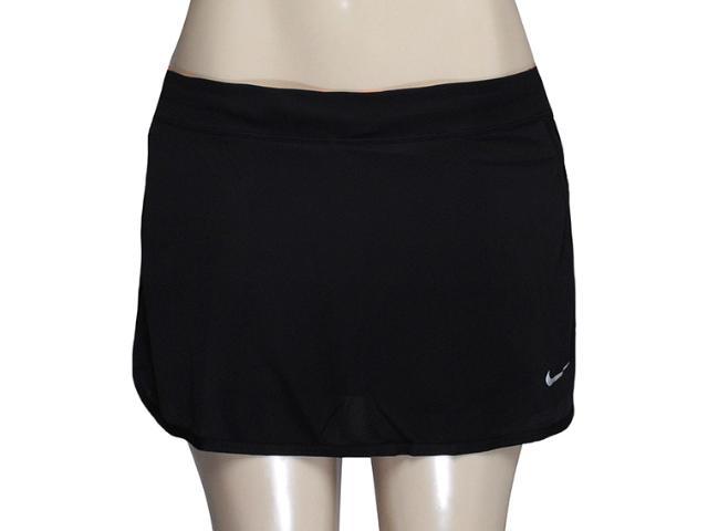 Saia/short Feminino Nike 645586-010 Racer Knit Skirt  Preto/laranja
