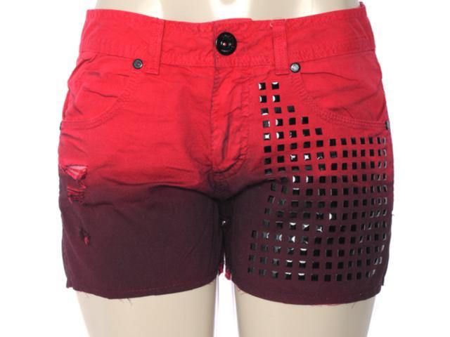 Short Feminino Dopping 013533009 Vermelho