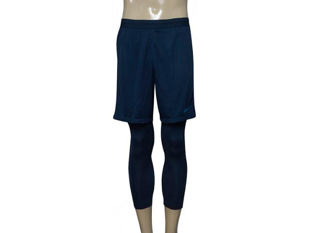 Shorts Calça Masculina Nike 859910-454 Nyr m nk Dry Sqd 2in1 gx Azul Petróleo