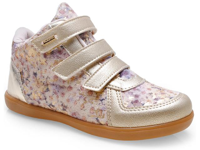 Sneaker Fem Infantil Pampili 403.029.599 Dourado/areia
