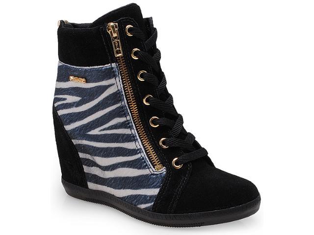Sneaker Feminino Quiz 69901 Preto/zebra/off White