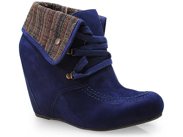 Sneaker Feminino Cravo e Canela 131502/3 Dark Azul