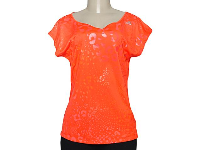 T-shirt Feminino Adidas M64089 Cct Grafica ii Laranja