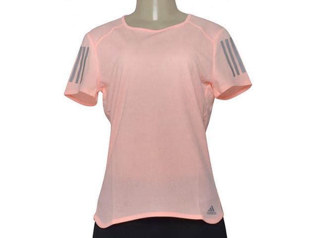T-shirt Feminino Adidas Cy5651 rs ss Tee Laranja Neon