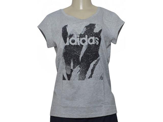 T-shirt Feminino Adidas Du0636 w e Aop Tee Cinza