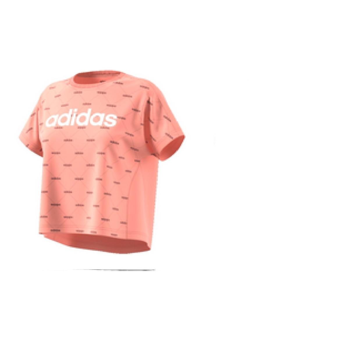 T-shirt Feminino Adidas Ei6245 w Core Fav t Pêssego