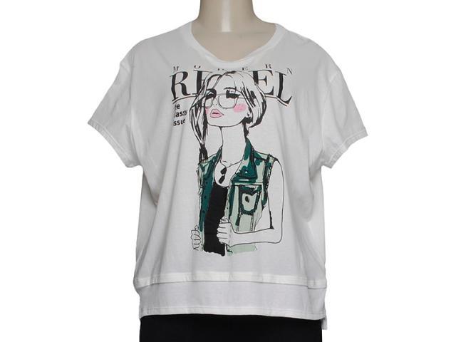 T-shirt Feminino Alto Giro 48706 Creme