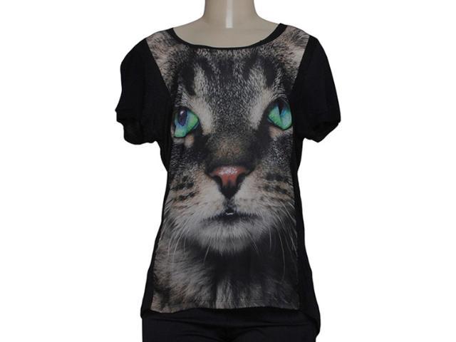T-shirt Feminino Alto Giro 48708 Preto